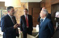 السيد ساجد يستقبل المهندس ميلاد معتوق وزير المواصلات الليبي (بلاغ صحفي)