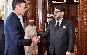 صاحب الجلالة الملك محمد السادس، نصره الله، يستقبل فخامة السيد بيدرو سانشيز، رئيس الحكومة الإسبانية. (بلاغ للديوان الملكي)