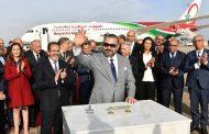 جلالة الملك يضع الحجر الأساس لمحطة جوية جديدة بمطار الرباط -سلا ويعطي انطلاقة الجيل الجديد من طائرات الخطوط الملكية المغربية